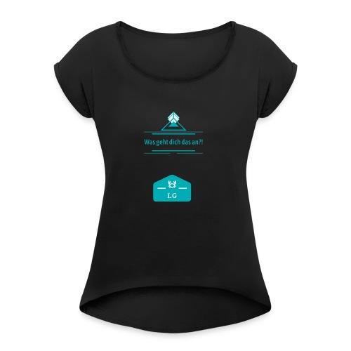 Logopit 1563367542669 - Frauen T-Shirt mit gerollten Ärmeln
