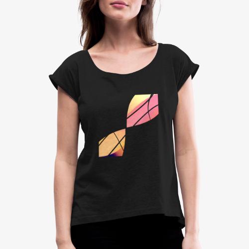 Wave - Maglietta da donna con risvolti