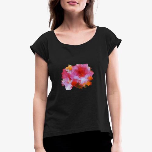 tee shirt femme - T-shirt à manches retroussées Femme