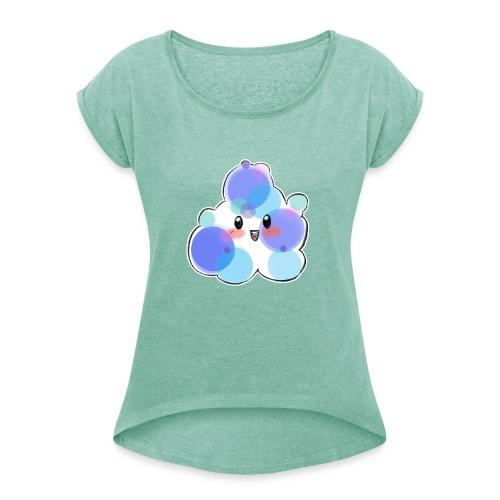 Baby Blue - Camiseta con manga enrollada mujer