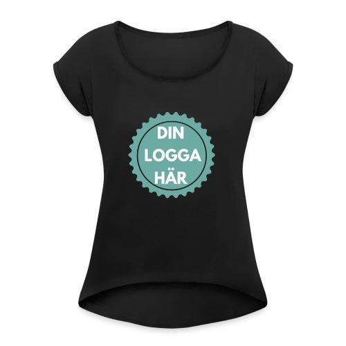 Egen Logga - T-shirt med upprullade ärmar dam
