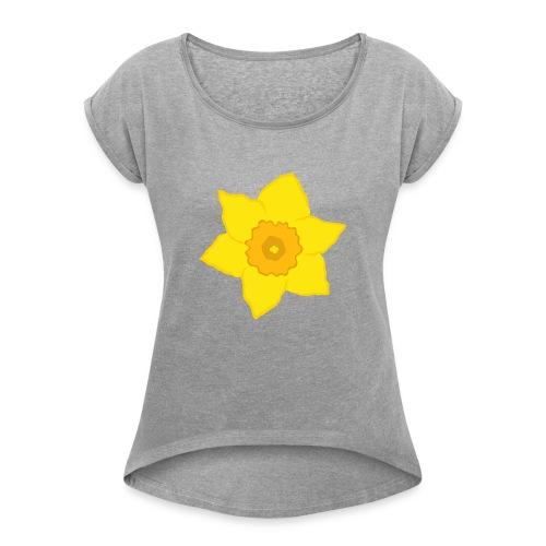 Osterglocke - Frauen T-Shirt mit gerollten Ärmeln