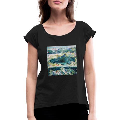 Fish it! - Frauen T-Shirt mit gerollten Ärmeln