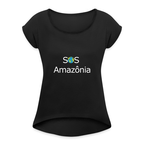 SOS the Amazon forest SAVE THE AMAZONAS - T-shirt à manches retroussées Femme
