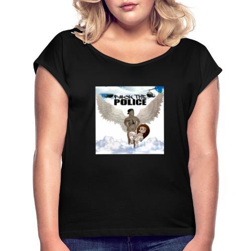 PicsArt 09 06 01 35 46 - Frauen T-Shirt mit gerollten Ärmeln