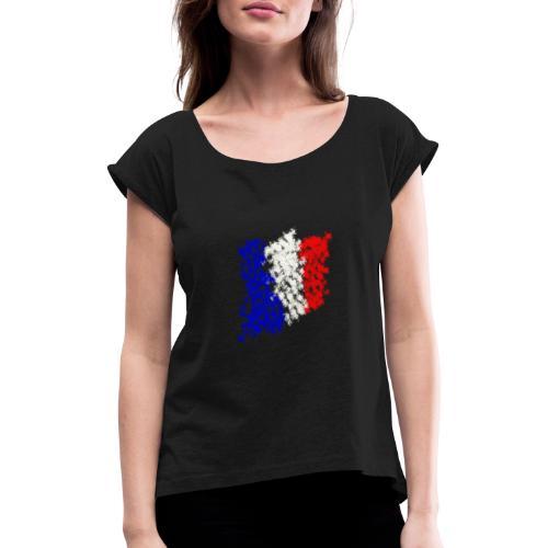 FRANKREICH - Frauen T-Shirt mit gerollten Ärmeln