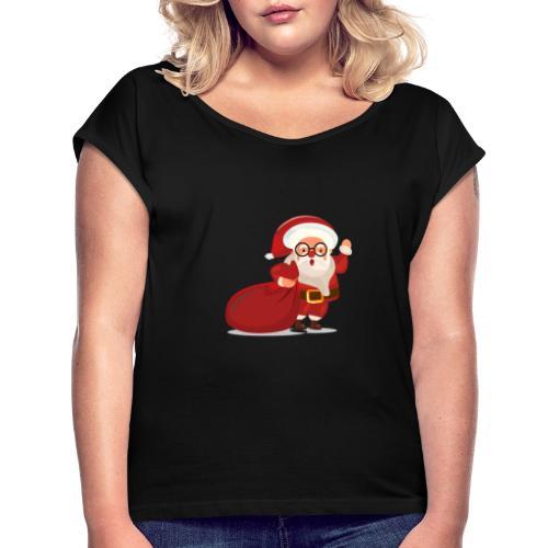Christmas 02 - T-shirt à manches retroussées Femme