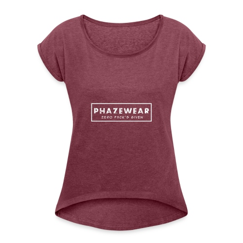phaze - Women's T-Shirt with rolled up sleeves