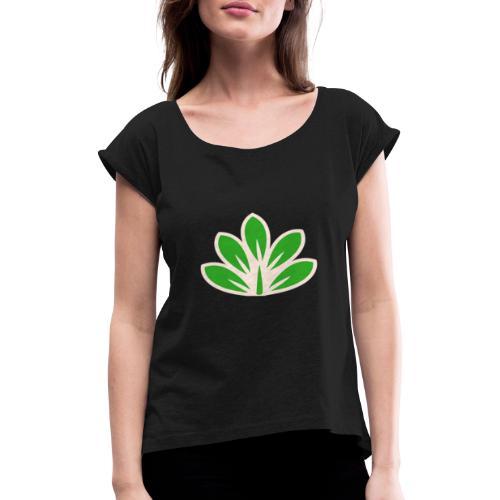 Ecolo - T-shirt à manches retroussées Femme