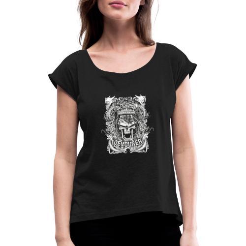 skull 7 - Maglietta da donna con risvolti