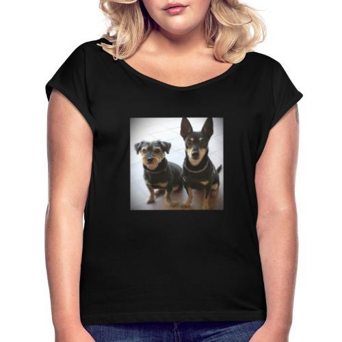 Cani - Maglietta da donna con risvolti