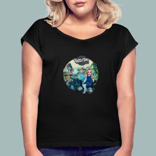 Letting Go Merch - Vrouwen T-shirt met opgerolde mouwen