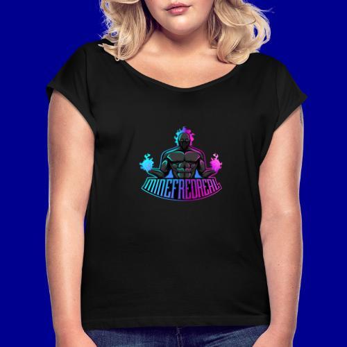 Minefred Real Logo - Frauen T-Shirt mit gerollten Ärmeln