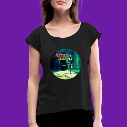 Robot Love - Women's T-Shirt with rolled up sleeves