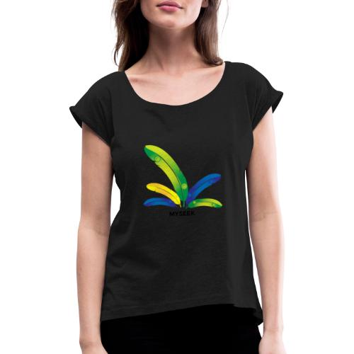 Bright Feather - Women's T-Shirt with rolled up sleeves