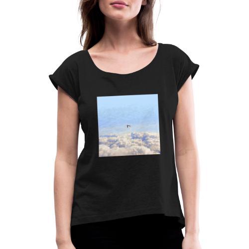Launch - Camiseta con manga enrollada mujer