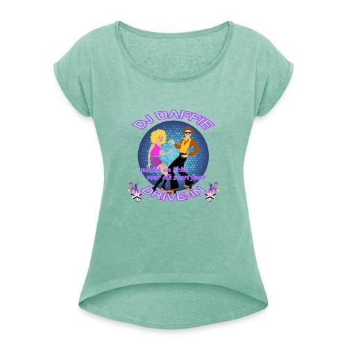 Logo2 png - Vrouwen T-shirt met opgerolde mouwen