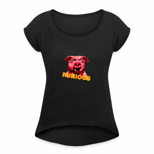 FAT SOW - Women's T-Shirt with rolled up sleeves