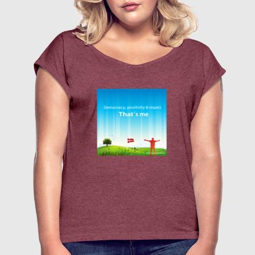 Rolling hills tshirt - Dame T-shirt med rulleærmer