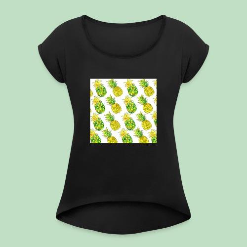 Pineapple Fantasy - Maglietta da donna con risvolti
