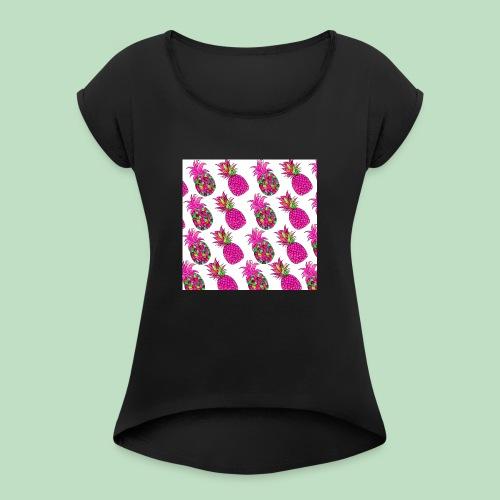 Pineapple magenta - Maglietta da donna con risvolti