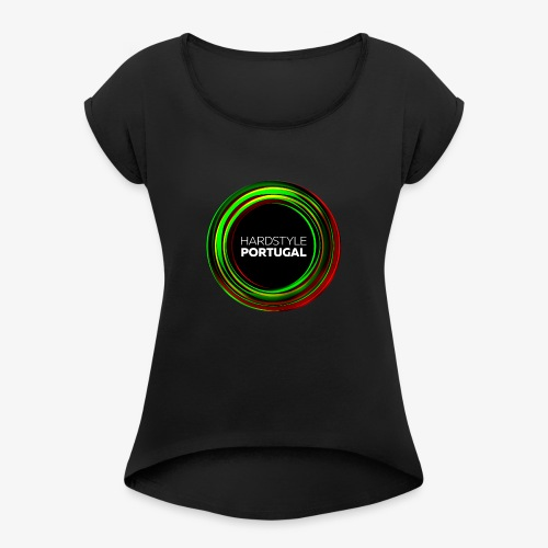 HARDSTYLE PORTUGAL - Women's T-Shirt with rolled up sleeves