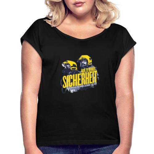 FF Laxenburg - Seit 1870 - Frauen T-Shirt mit gerollten Ärmeln