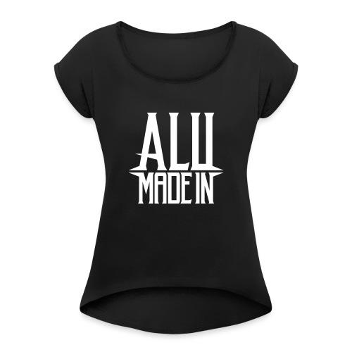 logo_alumadein_vecto_blan - T-shirt à manches retroussées Femme