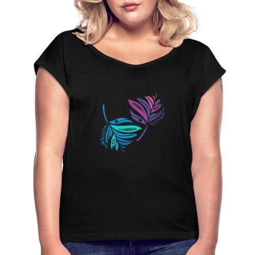 foglie geometriche - Maglietta da donna con risvolti