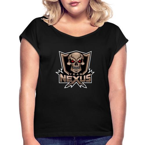 Png v2 - Frauen T-Shirt mit gerollten Ärmeln