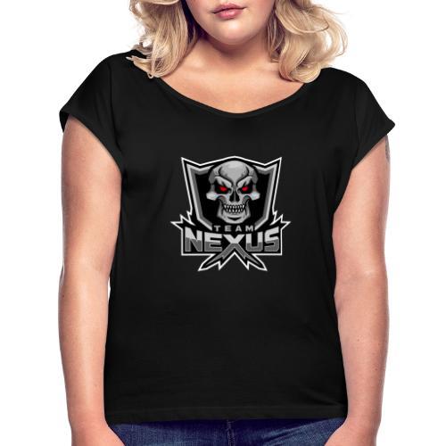 Png v1 - Frauen T-Shirt mit gerollten Ärmeln