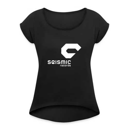 Seismic Records - Women's T-Shirt with rolled up sleeves
