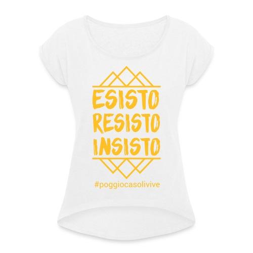 patch resisto - Maglietta da donna con risvolti