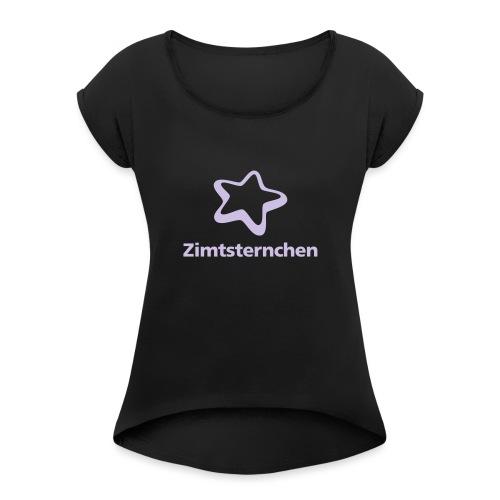 Zimtsternchen - Frauen T-Shirt mit gerollten Ärmeln