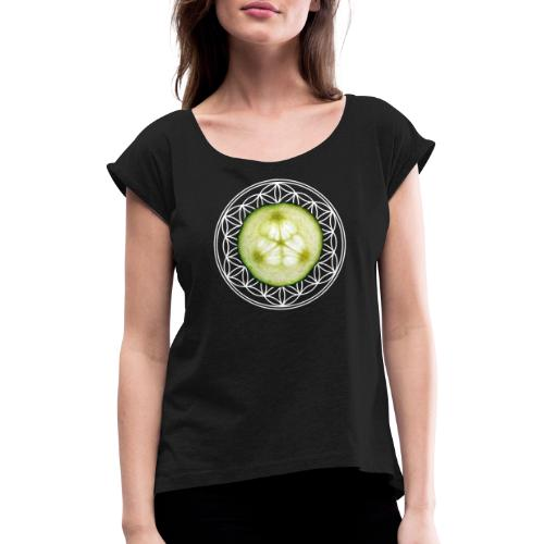 """flower of life """"patterncontest"""" - Frauen T-Shirt mit gerollten Ärmeln"""