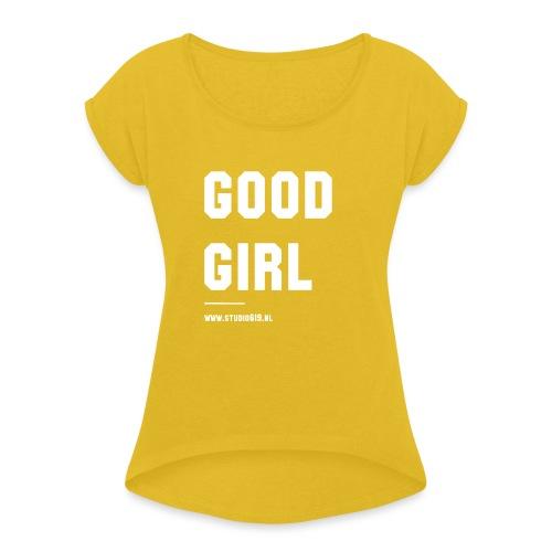 TANK TOP GOOD GIRL - Vrouwen T-shirt met opgerolde mouwen