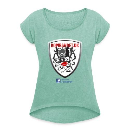 KopiBandet.DK find us on facebook - Dame T-shirt med rulleærmer