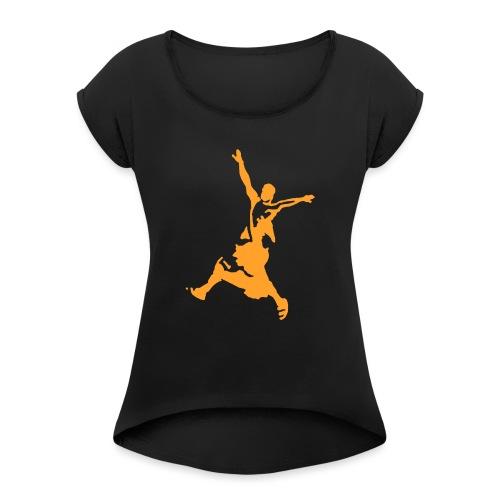 monk yellow - Frauen T-Shirt mit gerollten Ärmeln