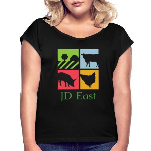 JD East - Frauen T-Shirt mit gerollten Ärmeln