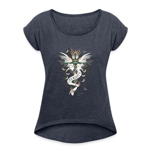 Dragon Sword - Eternity - Drachenschwert - Frauen T-Shirt mit gerollten Ärmeln