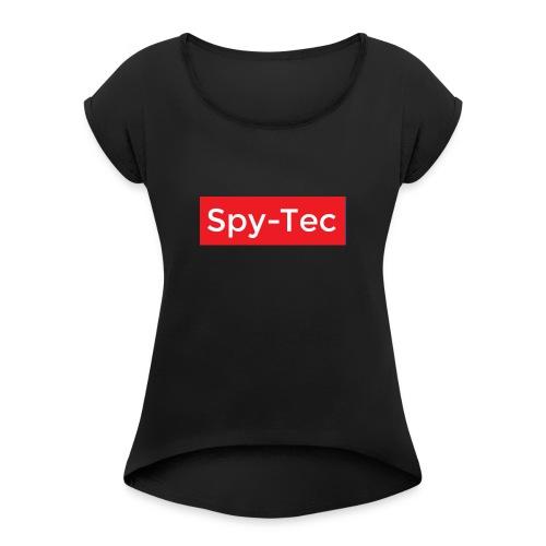 Spy-Tec Suprem e Inspired Logo - T-shirt med upprullade ärmar dam