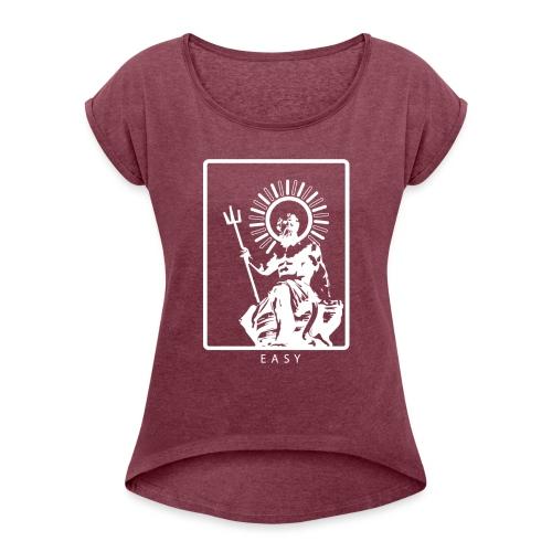 POSEIDONE - Maglietta da donna con risvolti