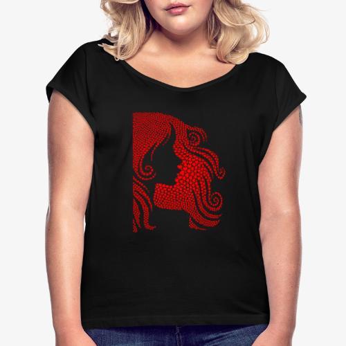 femme st valentin - T-shirt à manches retroussées Femme
