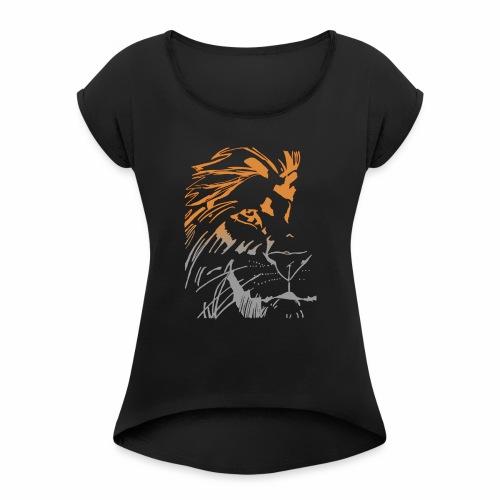 lion model 2 - T-shirt à manches retroussées Femme