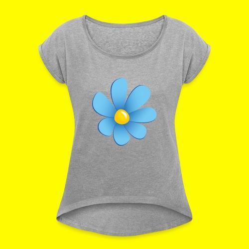 Sverigedemokraterna - T-shirt med upprullade ärmar dam
