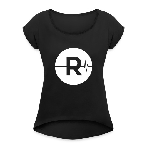 REVIVED - BIG R - Women's T-Shirt with rolled up sleeves
