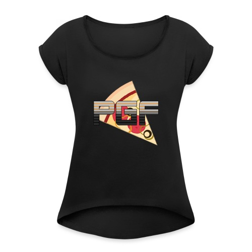 PGF New Logo - Women's T-Shirt with rolled up sleeves