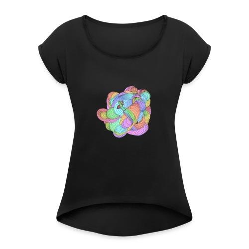Regenbogendarm - Frauen T-Shirt mit gerollten Ärmeln