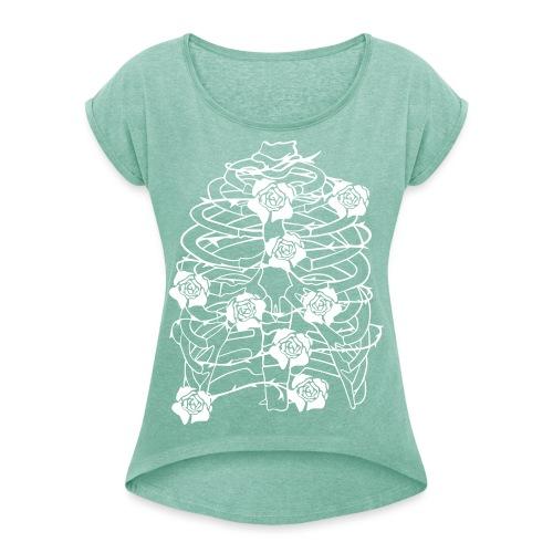 Inhale - Frauen T-Shirt mit gerollten Ärmeln