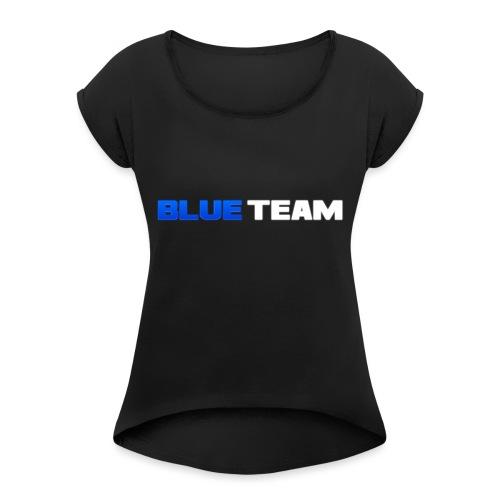 Blue Team - T-shirt à manches retroussées Femme